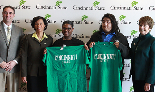 CPS students showing Cincinnati State T-shirts
